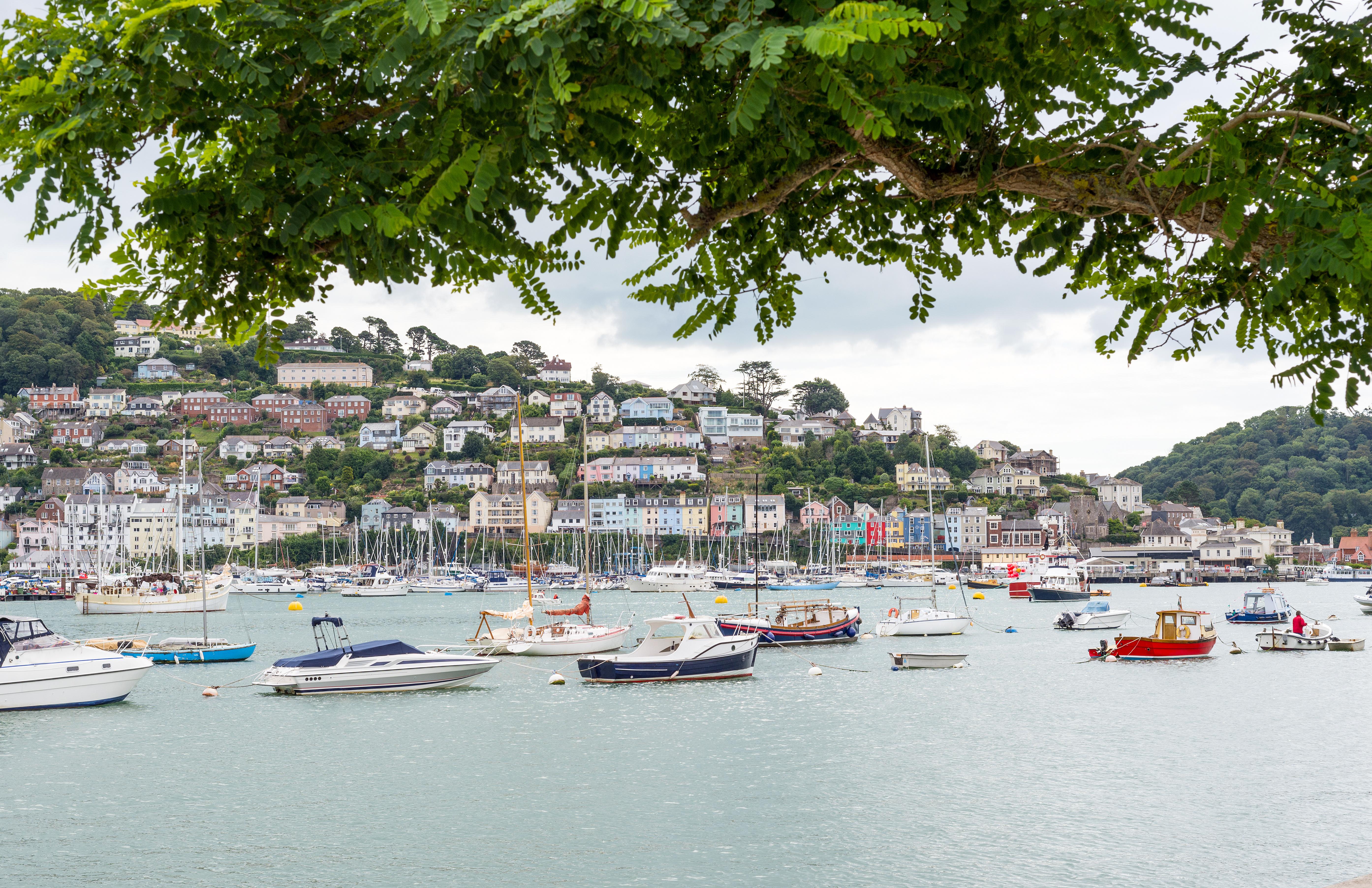 September Holidays UK - Dartmouth Estuary, Devon, England