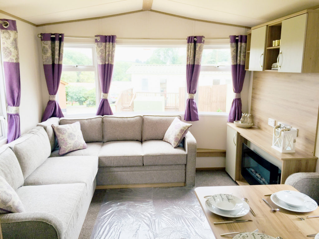 Static caravan for sale at Smytham Holiday Park