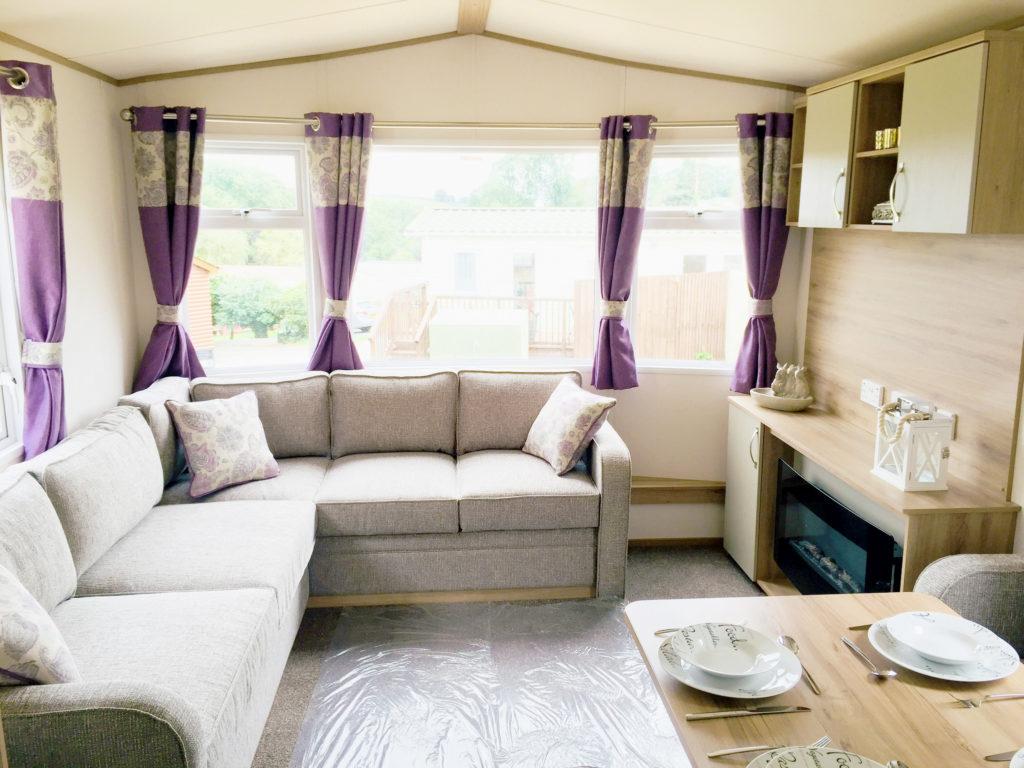 Static caravan for sale at Smytham Holiday Park