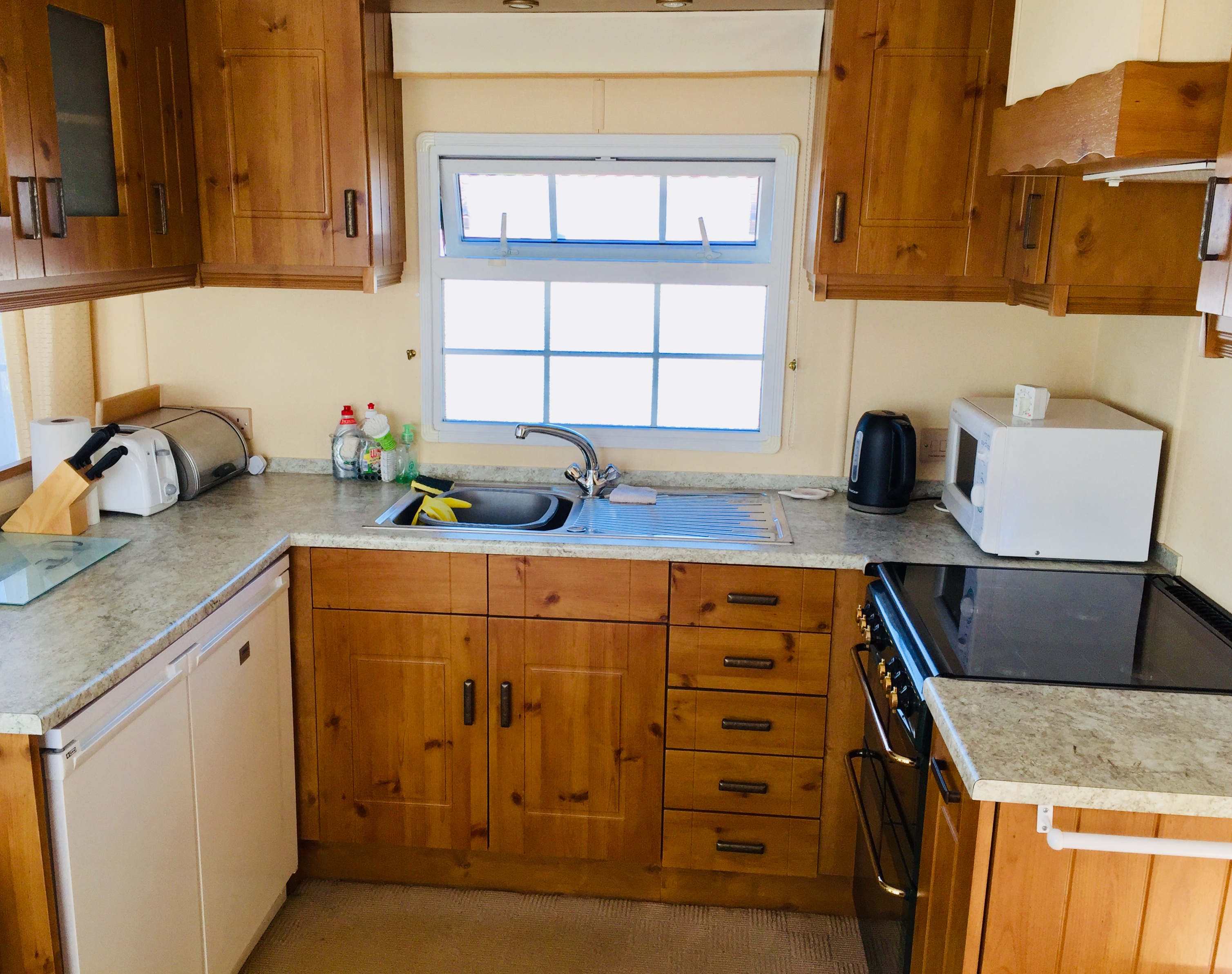 used static caravan for sale in North Devon countryside