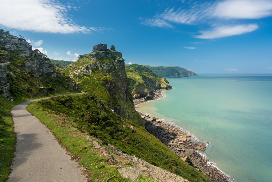 Coastal path in devon