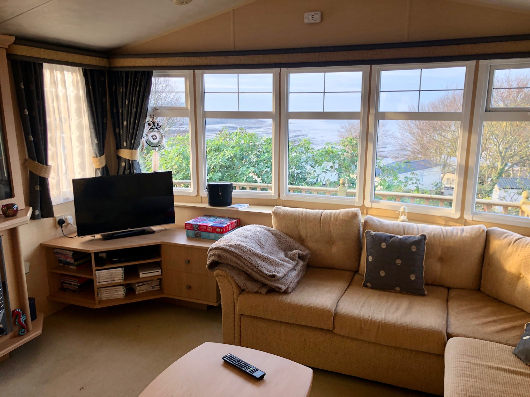 Used static caravan for sale Somerset with sea view