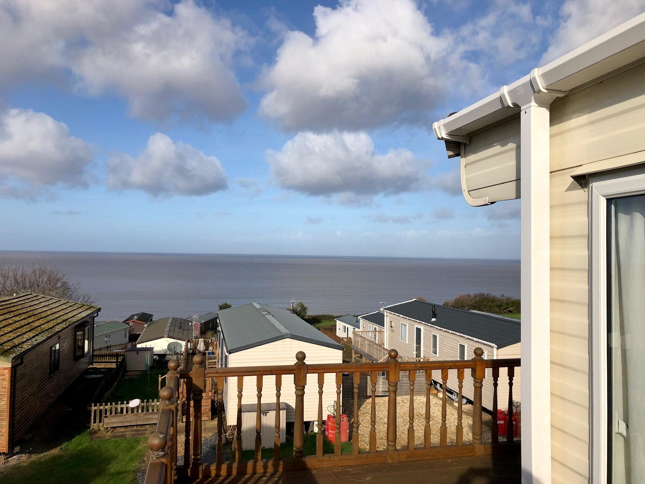 used static caravan with sea views Somerset