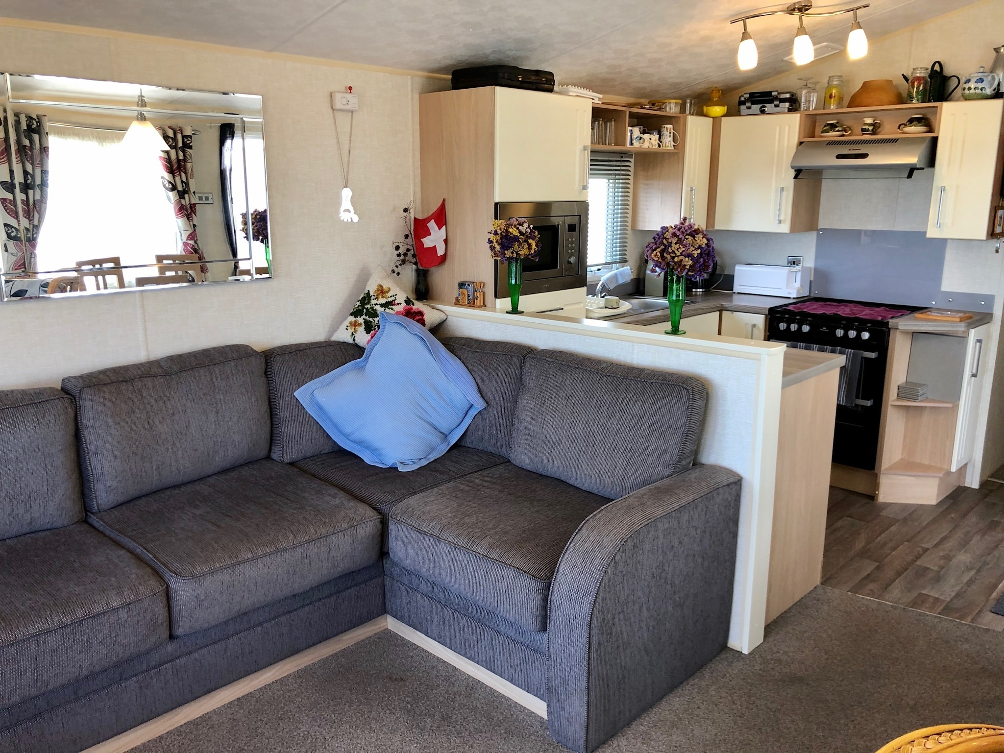 used static caravan with sea views Somerset